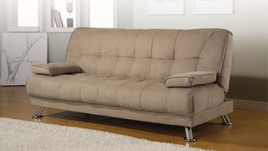 Living Room Sofa Beds Casual Tan Sofa Bed 300147