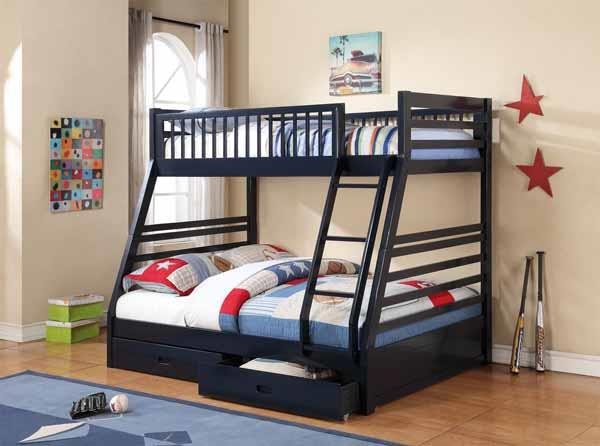 Ashton Collection Ashton Navy Twin Over Full Bunk Bed 460181