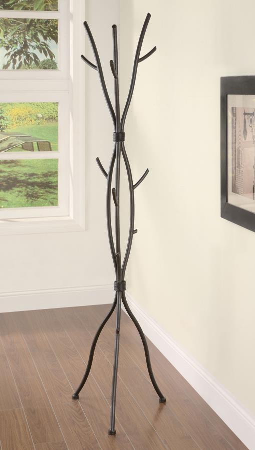Casual Brown Twig Style Metal Coat Rack