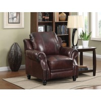 PRINCETON COLLECTION - Princeton Traditional Burgundy Push Back Recliner