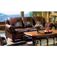 PRINCETON COLLECTION - Princeton Traditional Burgundy Sofa