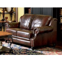 PRINCETON COLLECTION - Princeton Traditional Burgundy Loveseat