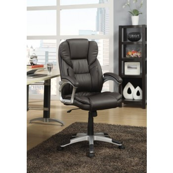 HOME OFFICE : CHAIRS - Transitional Dark Brown Office Chair