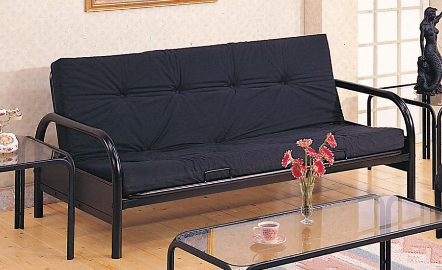 LIVING ROOM : FUTON FRAMES - Casual Black Futon Frame