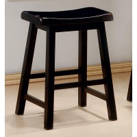 BAR STOOLS: WOOD FIXED HEIGHT - COUNTER HT STOOL (Pack of 2)