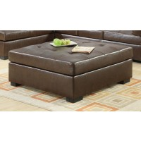 DARIE SECTIONAL - Darie Casual Brown Ottoman