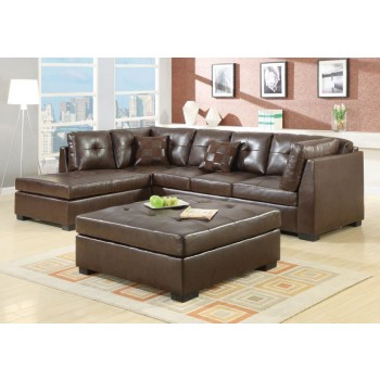 DARIE SECTIONAL - Darie Casual Brown Sectional