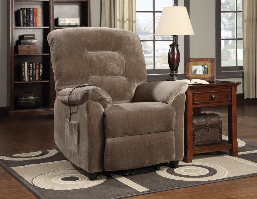 LIVING ROOM : POWER LIFT RECLINER - Casual Brown Sugar Power Lift Recliner