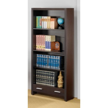 SKYLAR COLLECTION - Skylar Contemporary Cappuccino Bookcase