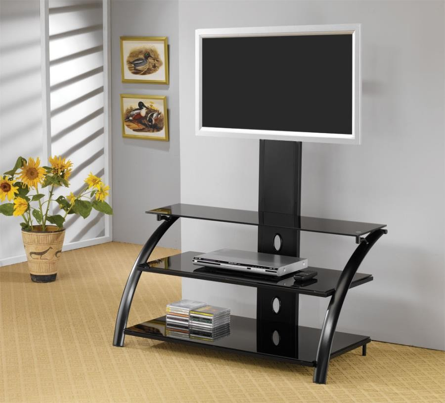LIVING ROOM : TV CONSOLES - Contemporary Black TV Console