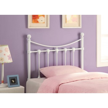METAL HEADBOARD - White Metal Twin Headboard