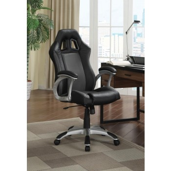 HOME OFFICE : CHAIRS - Contemporary Black and Grey Office Chair
