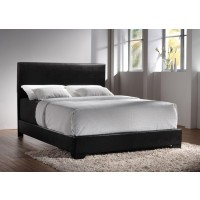 CONNER COLLECTION - Conner Casual Black Upholstered Queen Bed