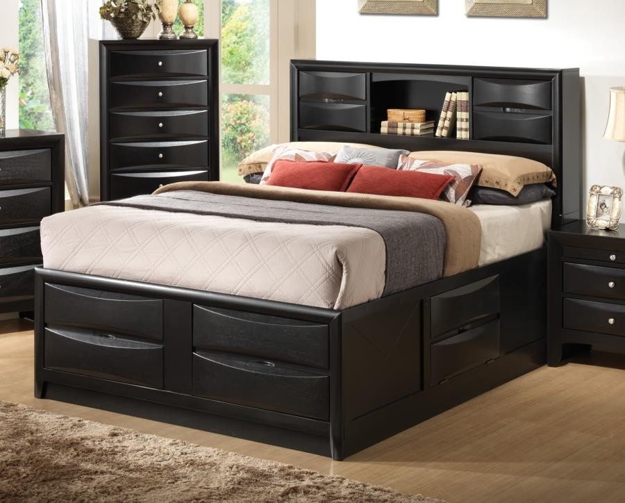 BRIANA COLLECTION - Briana Transitional Black California King Bed