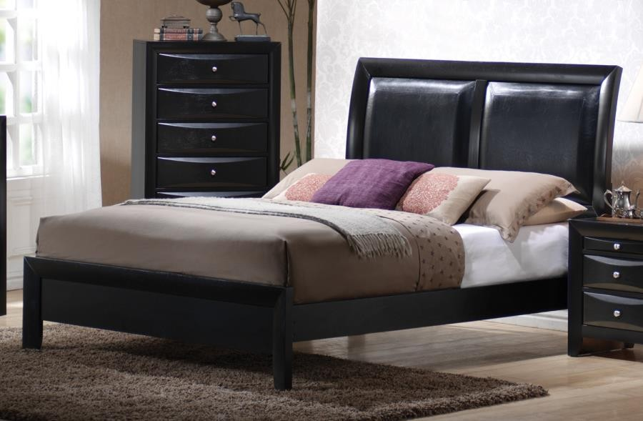 BRIANA COLLECTION - Briana Black Transitional King Bed
