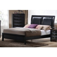 BRIANA COLLECTION - Briana Black Transitional Queen Bed