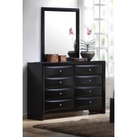 BRIANA COLLECTION - Briana Black Eight-Drawer Dresser