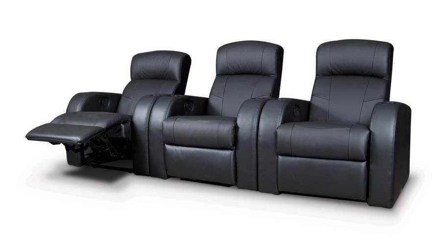CYRUS HOME THEATER COLLECTION - Cyrus Home Theater Black Recliner