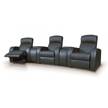 CYRUS HOME THEATER COLLECTION - Cyrus Transitional Black Recliner Wedge