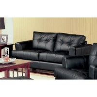 SAMUEL COLLECTION - Samuel Transitional Black Loveseat