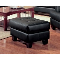 SAMUEL COLLECTION - Samuel Transitional Black Ottoman