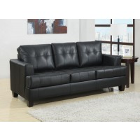 SAMUEL COLLECTION - Samuel Transitional Black Sleeper Sofa