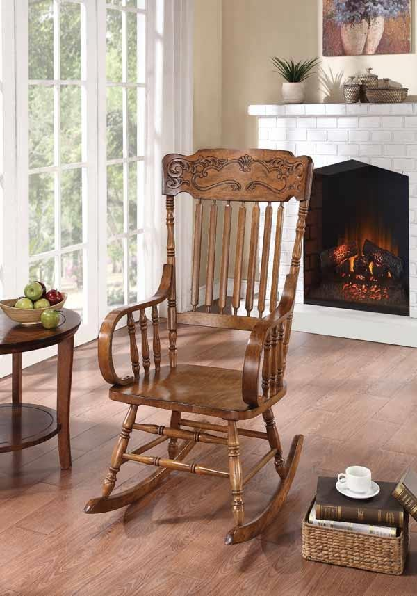 Living Room Rocking Chairs Traditional Wooden Rocking Chair 600175 Rockers Midtown Outlet Home Furnishings