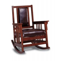 LIVING ROOM: ROCKING CHAIRS - Traditional Tobacco Rocking Chair