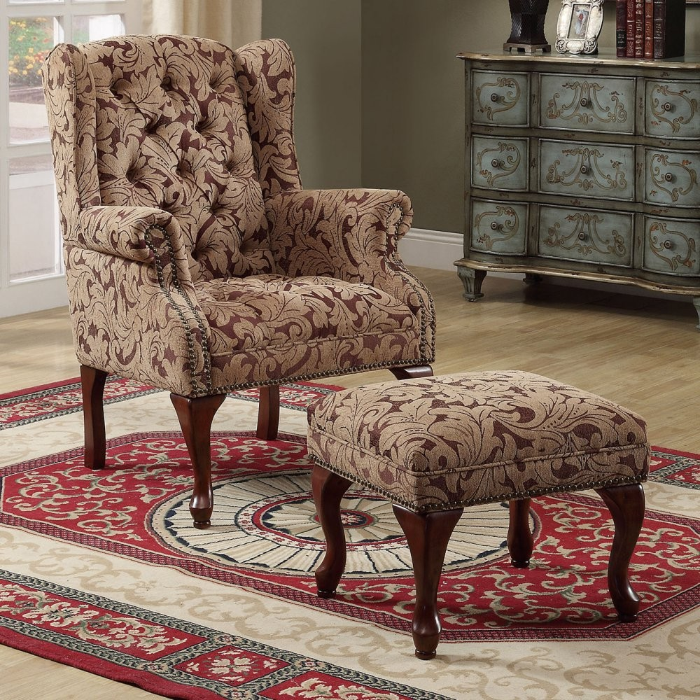 Accent Furniture For Living Room: Queen Anne Light Brown Accent Chair