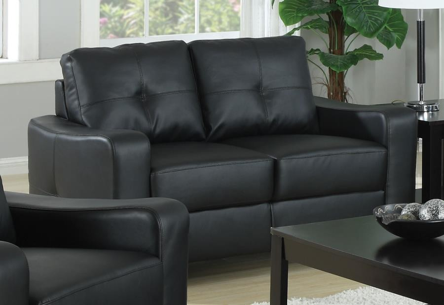 JASMINE COLLECTION - Jasmine Casual Black Loveseat
