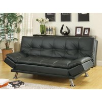 DILLESTON COLLECTION - Dilleston Contemporary Black Sofa Bed