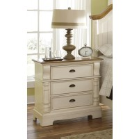 Oleta Collection - Oleta Cottage Three-Drawer Nightstand