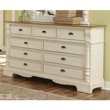 Oleta Collection - Oleta Buttermilk Nine-Drawer Dresser