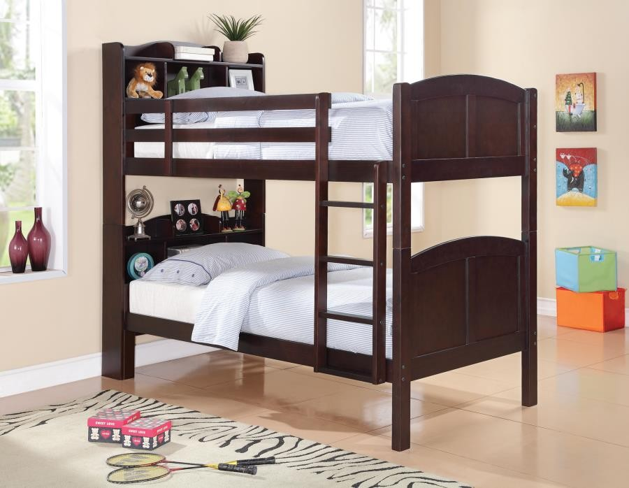 PARKER BOOKCASE COLLECTION - TWIN / TWIN BUNK BED