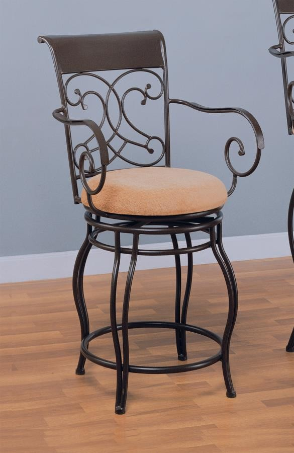 Bar Stools Metal Swivel Metal Swivel Brown Counter