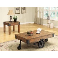 LIVING ROOM : INDUSTRIAL/RUSTIC OCCASIONAL TABLES - END TABLE