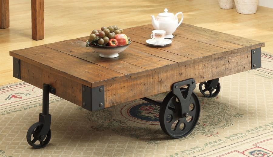 Industrial Rustic Coffee Table Sets 11