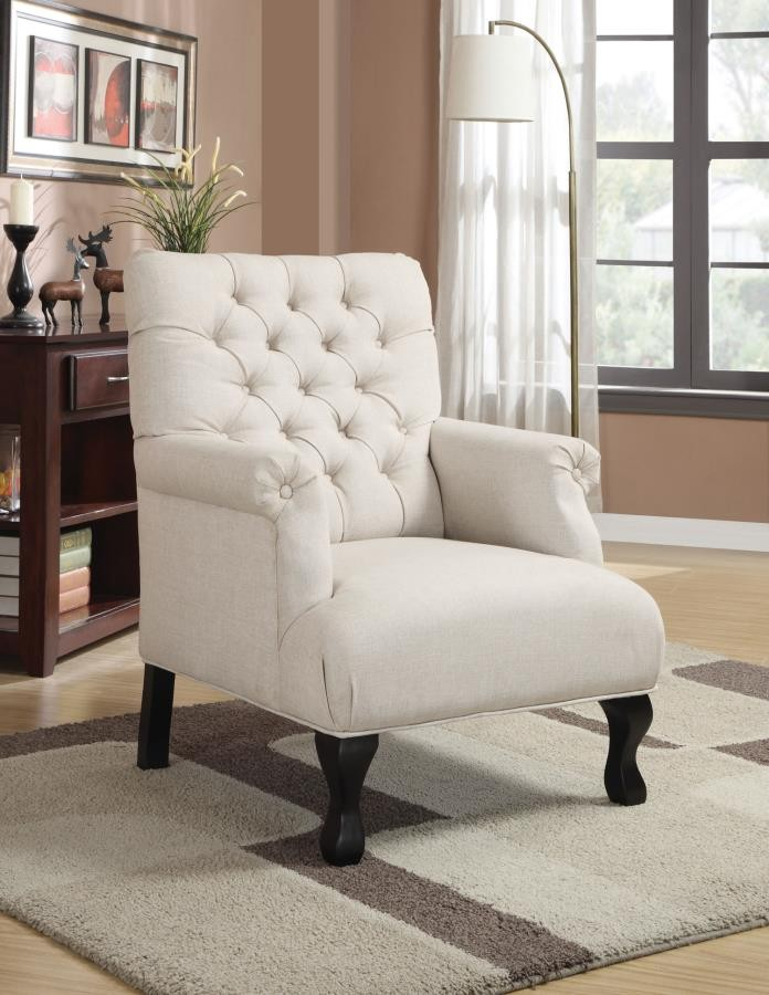 ACCENTS : CHAIRS - Casual Oatmeal Accent Chair