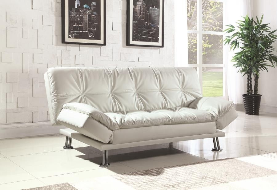 DILLESTON COLLECTION - Dilleston Contemporary White Sofa Bed