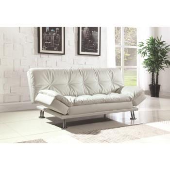 Dilleston Collection Dilleston Contemporary White Sofa