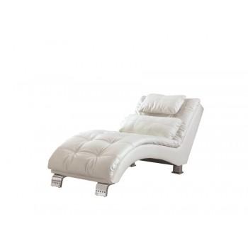 DILLESTON COLLECTION - Dilleston Contemporary White Chaise