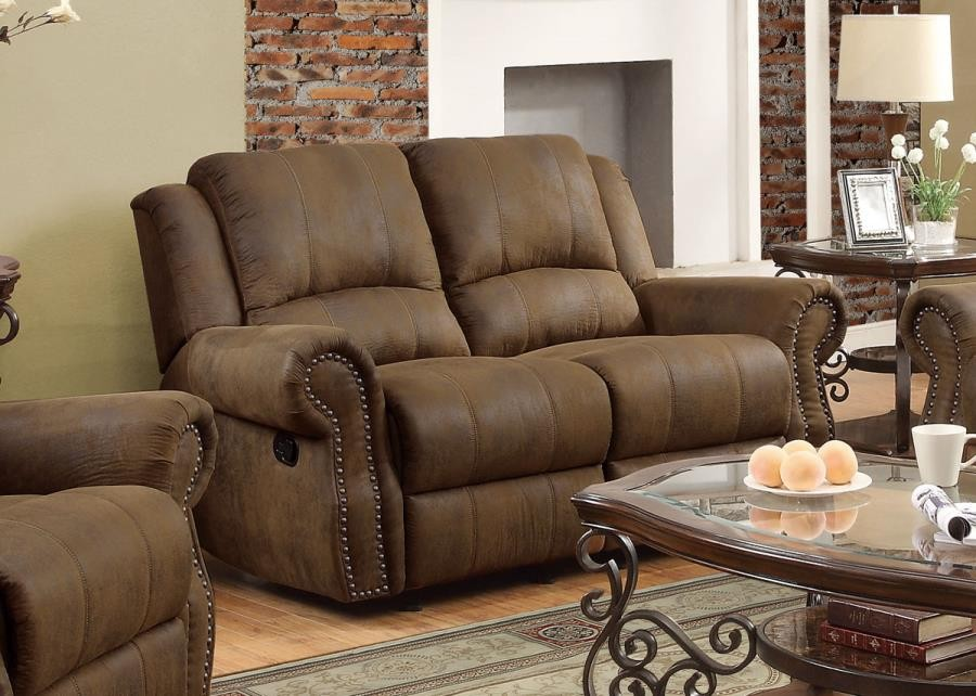 SIR RAWLINSON MOTION COLLECTION - Sir Rawlinson Brown Reclining Loveseat
