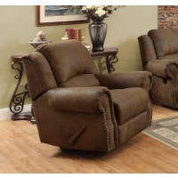 SIR RAWLINSON MOTION COLLECTION - Sir Rawlinson Brown Swivel Rocking Recliner