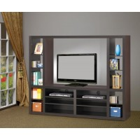 LIVING ROOM : TV CONSOLES - Contemporary Cappuccino Entertainment Unit