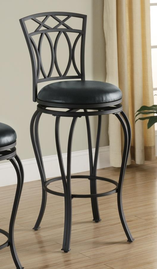 Bar Stools Metal Swivel Casual Black Metal Bar Stool
