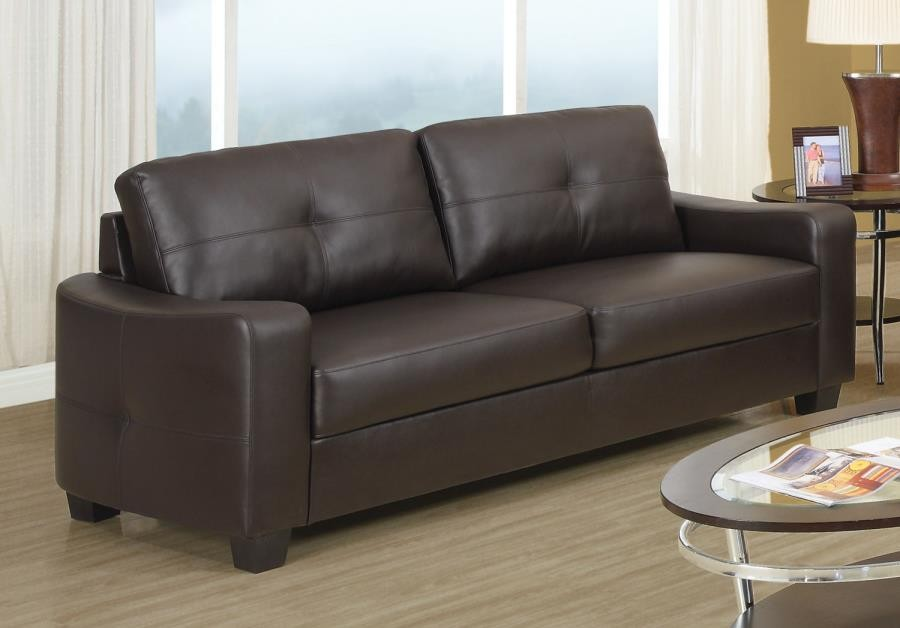 JASMINE COLLECTION - Jasmine Casual Dark Brown Sofa