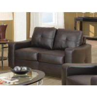 JASMINE COLLECTION - Jasmine Casual Dark Brown Loveseat