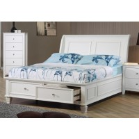 Selena Collection - Selena Coastal White Twin Bed