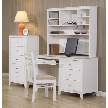 Selena Collection - Selena Contemporary White Desk