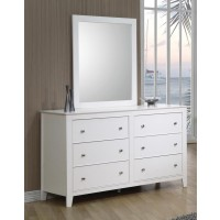 Selena Collection - Selena Contemporary White Six-Drawer Dresser